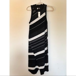 Moth by Anthropologie Long Sweater Dress Stripes